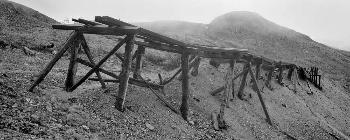 Keno 700 waste dump track, Keno Hill